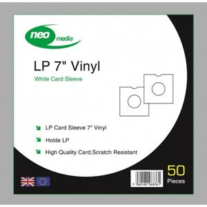 Pack Of 100 X White 7 Inch Lp Record Album Card Sleeves