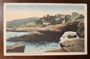 SAN-DIEGO-CA-California-SPHINX-HEAD-CAVE-LA-JOLLA-HOMES-c1910-039-s-Postcard