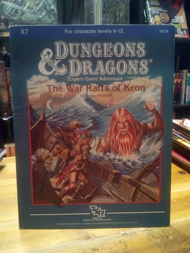 D&D TSR Module X7 The War Rafts of Kron Great Shape Dungeons & Dragons Expert