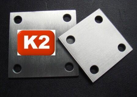 Edelstahl Ankerplatte,Grund-platte,150x150x5mm,gebohrt,Anschweißplatte,V2A Blech