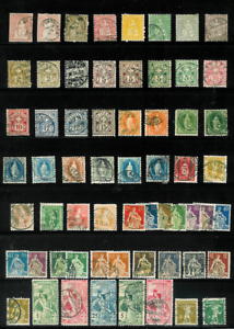 Switzerland-Valuable-Collection-of-M-amp-U-on-12-Pages-All-Diff-1854-gt-SCV-850