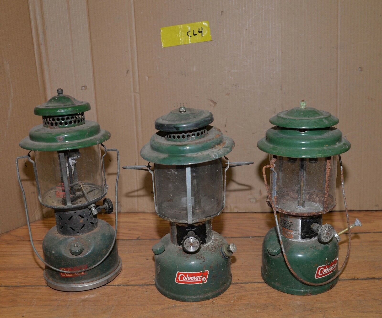 3 Coleman lanterns vintage  camping tool collectible gas light parts repair CL4  low 40% price