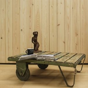 Trolley Coffee Table.Details About Reclaimed Trolley Coffee Table 7 Timber Furniture Industrial Home And Garden