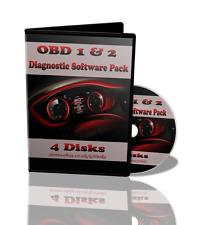 OBD 1 & 2 Diagnostic Software ECU Remapping/Tuning BHP-Car Faults-ELM327 4 Discs