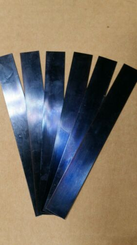 "Blue Tempered Spring Steel Shim .015/"" x 1//2/"" w 6 inch Long 0.015 01 five piece"