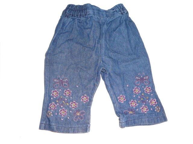 Süße Jeans Hose Gr. 62 mit Blumenstickereien !!