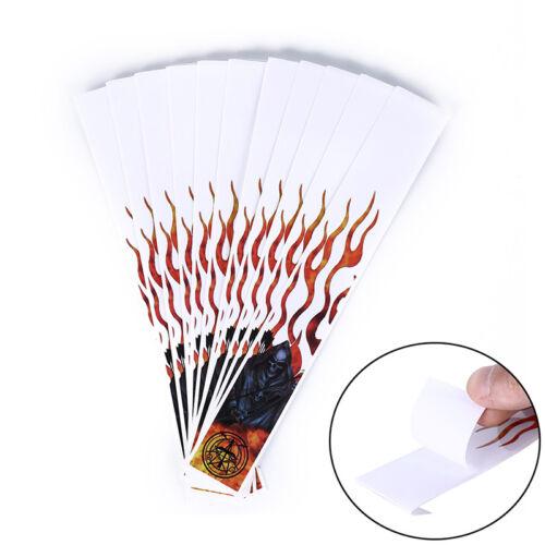 12pcs red /& white arrow sticker arrow wraps for carbon fiberglass arrow XBUK