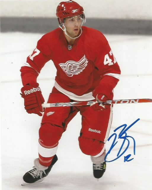 Detroit Red Wings Brent Raedeke Signed Autographed 8x10 COA A