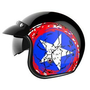 NEW-YEMA-OPEN-FACE-YM-629-MOTORCYCLE-HELMET-ADULT-XL-DOT-APPROVED-CAP-AMERICA
