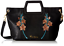 Foley Corinna Flowerbed Creek Cut Out Handle Tote Pretty Floral Embroidery Black