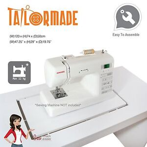 Image is loading Sewing-Machine-Table-Cabinet-Desk-Furniture-Janome-Singer-  sc 1 st  eBay & Sewing Machine Table Cabinet Desk Furniture Janome Singer Brother ...