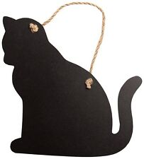 Mini Cat Shaped Chalk Board Blackboard Memo Board Sass & Belle