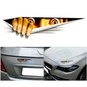 Funny-Peeking-3D-Big-Eyes-For-JDM-Car-Bumper-Window-Vinyl-Decal-Black-Sticker