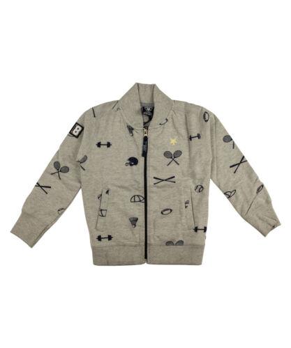 LCEE Jungen Sweat Jacke grau Strickjacke Jacke Pullover Oberteil NP €59,95