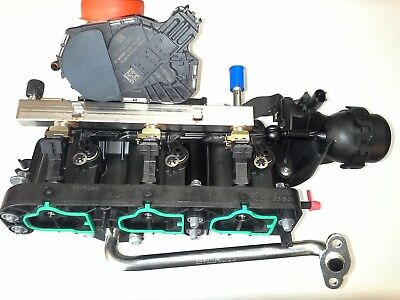 INJECTORS COMPLETE OPEL CORSA A10XEP GENUINE INLET MANIFOLD THROTTLE BODY
