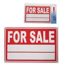 Coche Para Venta signo vehículo Precio / año / modelo de plástico presentación A4 tamaño Blanco-rojo