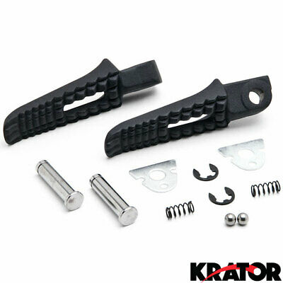 Black Rear Foot Rest Pegs for Suzuki GSXR 600 750 1000 GSXS1000 GSXS750 SV650