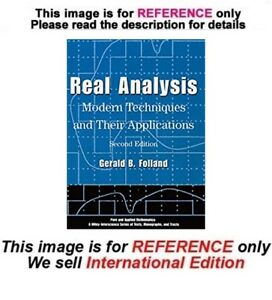 Details about Real Analysis: Modern Techniques and Their Applications, 2nd  edition (ISE)