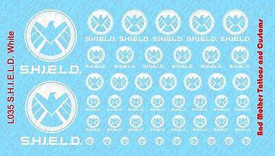 Punisher Logos Action Figure Tattoos Waterslide Decals
