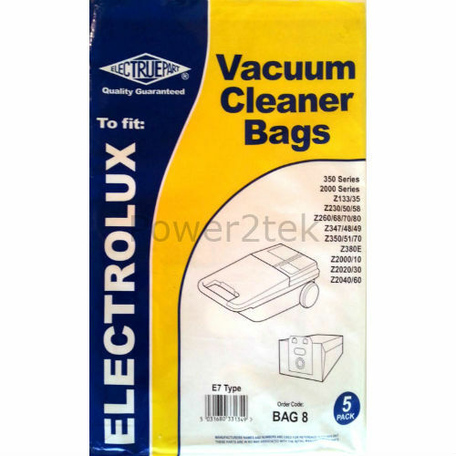 5 x E7 Vacuum Cleaner Bags for Electrolux 349 Hoover UK