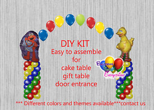 Image Is Loading Sesame Street BALLOON ARCH With COLUMNS Birthday Decorations