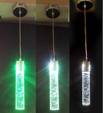 Royale LED Color Changer Crystal Rod hanging light home decoration