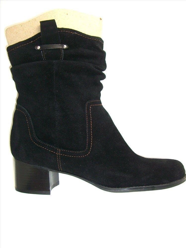 Naturalizer para mujer botas al Negro Tobillo De Gamuza Carlyle occidental Negro al Talla 9 M ff8b5b
