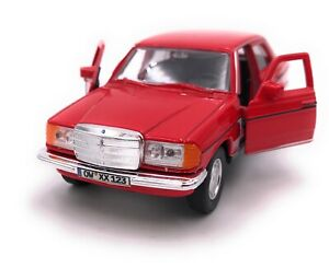 Mercedes-Benz-E-Class-W123-Red-Model-Car-With-Desired-License-Plate-Scale-1-3-4