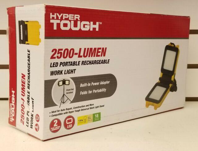 Hyper Tough Work Light 2500 Lumen Led Portable Rechargeable