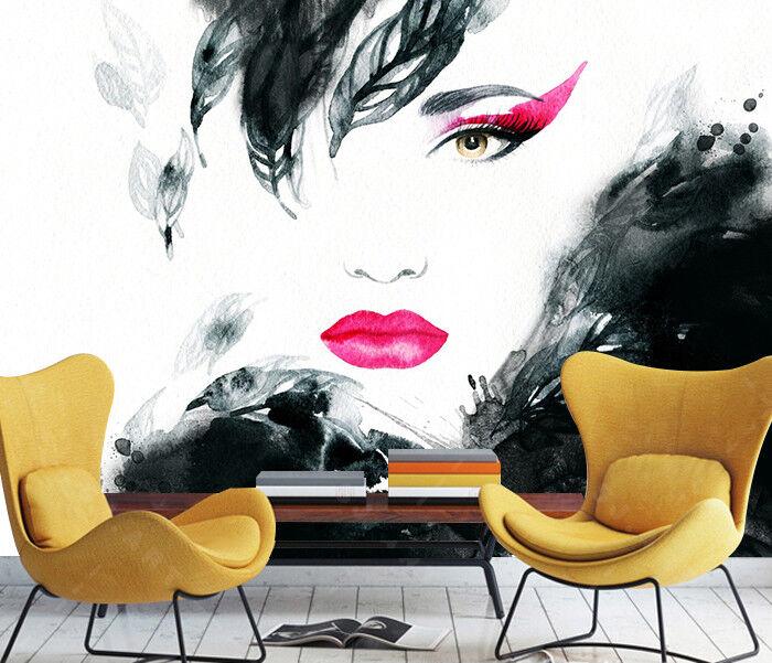 3D Woman Paint 409 Wallpaper Murals Wall Print Wallpaper Mural AJ WALL AU Lemon
