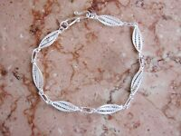 Filigree Chain Bracelet, 925 Sterling Silver, 8 Inches