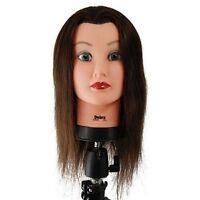 Debra Manikin Cosmetology Mannequin Head 100% Human Hair, Brown - Sbs-427040