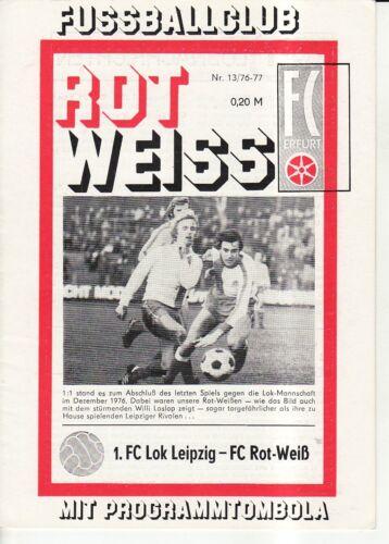 1 FC Lok Leipzig OL 76//77  FC Rot-Weiß Erfurt