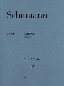 Details about Schumann Carnaval Op  9 Sheet Music Piano Solo NEW 051480187