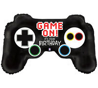 1 36 Video Game Controller Balloon And 1 18 Happy Birthday Leveled Up Balloon