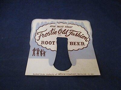Frostie Old Fashion Root Beer Mini Cardboard Store Display Vintage