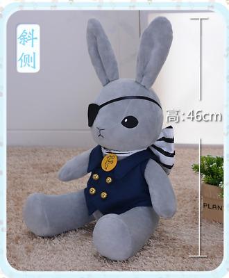 Black Butler Kuroshitsuji Ciel Rabbit Plush Stuffed Doll Lolita Cosplay Gift