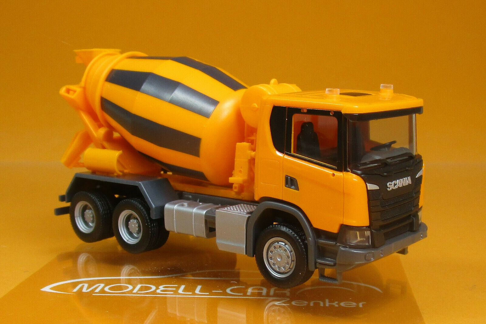 Herpa 309783 Scania CG 17 6x6 Betonmischer orange Scale 1 87