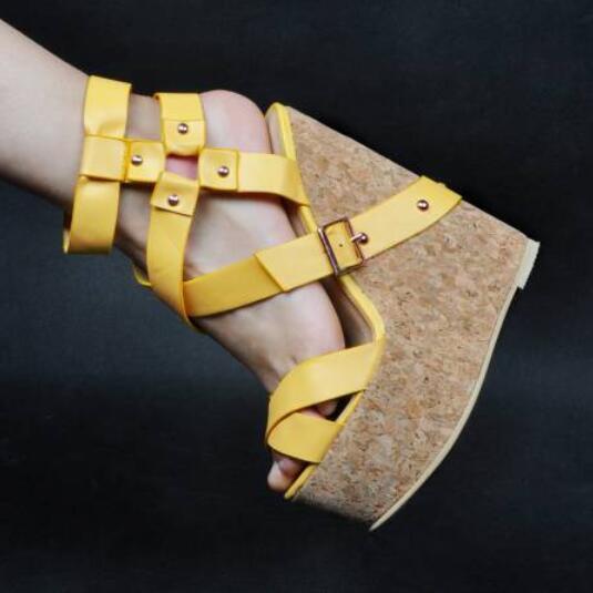 Sexy Roman Retro Womens Roman Oxford European Wedge High Heel shoes UK Sz35-47