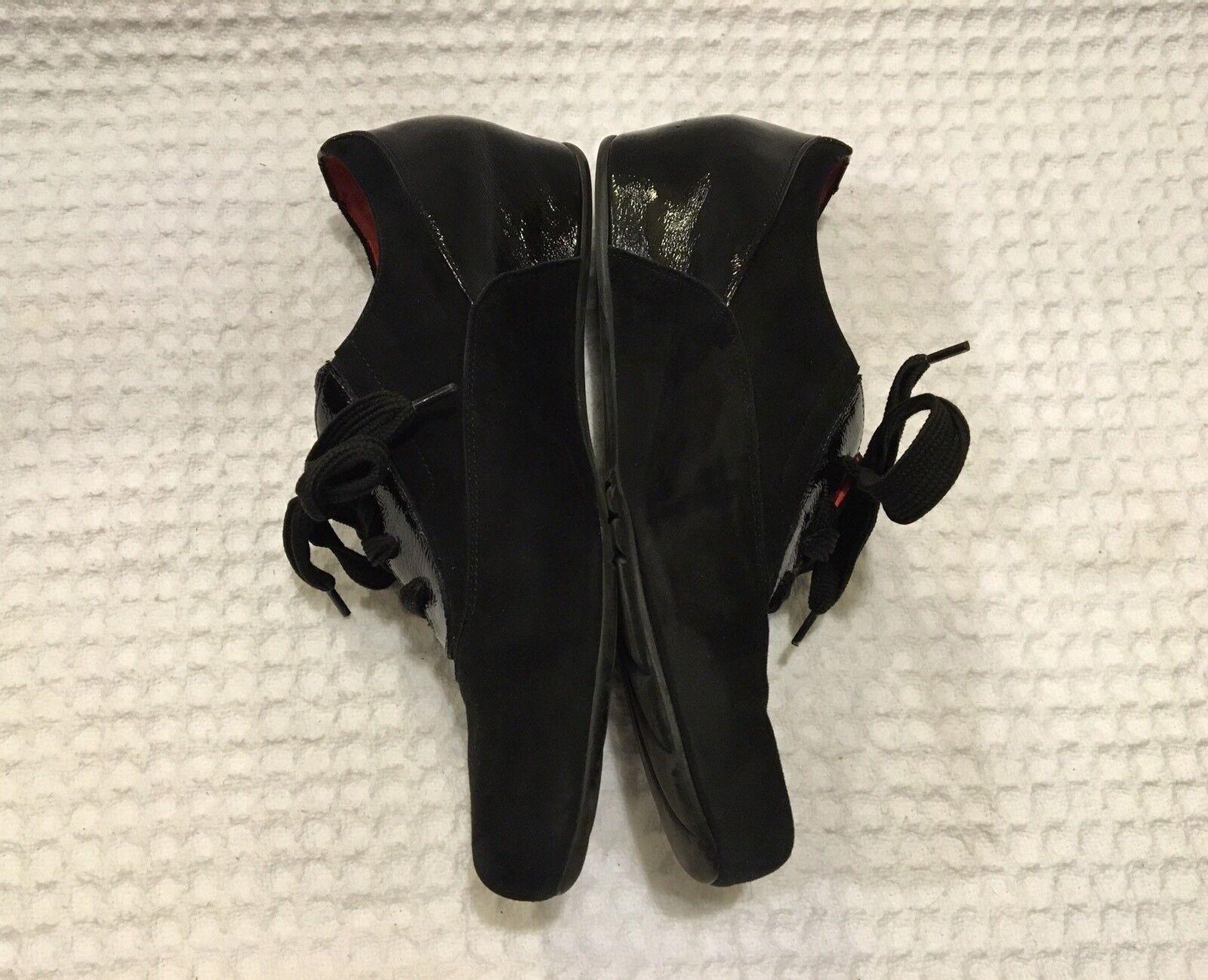 PAS DE red Oxfords Loafers Lace-up Oxford shoes shoes shoes  440 Black Suede 41   11 ee0b47