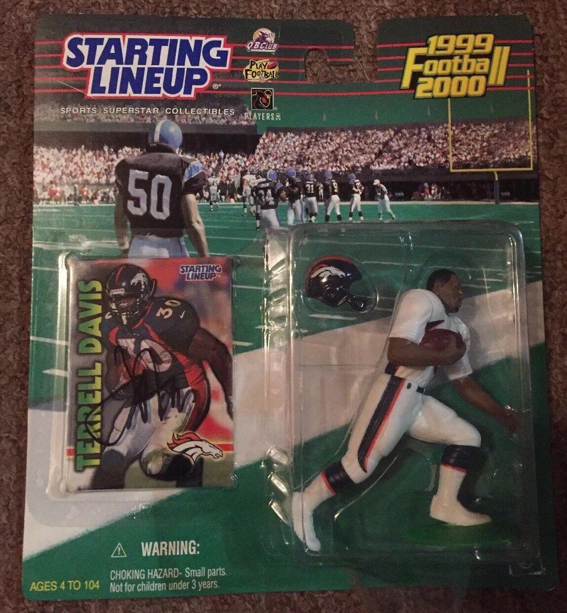 Terrell Davis Signed  Autographed 1999-2000 estrellating Lineup... Denver Broncos