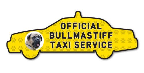 Funny BULL MASTIFF Dog Taxi Sevice vinyl car decal sticker Pet Animal Lover