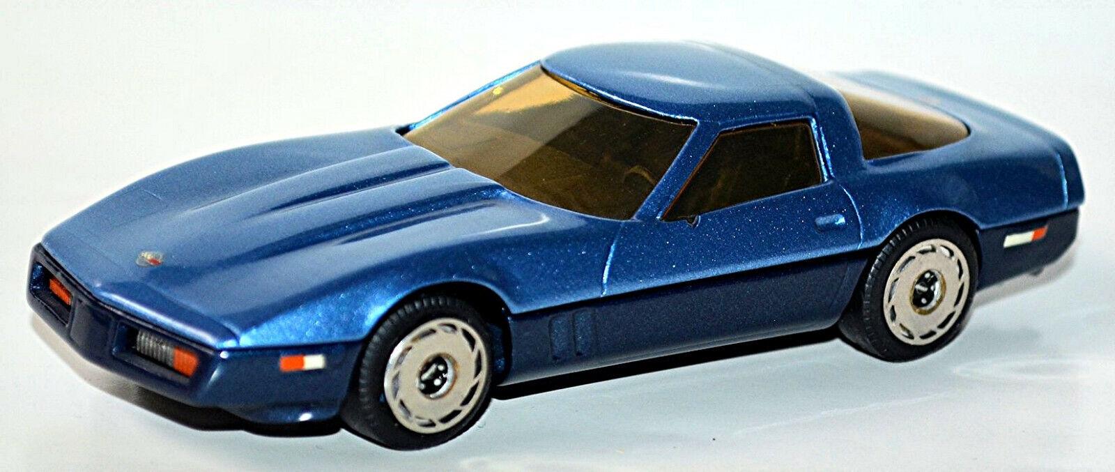 Chevrolet Corvette C4 1983 Coupe blau Blau metallic 1 43 Western Modells