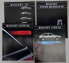 1983 4x MERCURY ,CAPRI, LYNX, GRAND MARQUIS,  Prospekt Sales Brochure