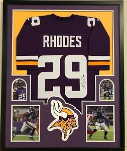 separation shoes 330fd a2c6f Details about FRAMED XAVIER RHODES AUTOGRAPHED SIGNED MINNESOTA VIKINGS  JERSEY JSA COA