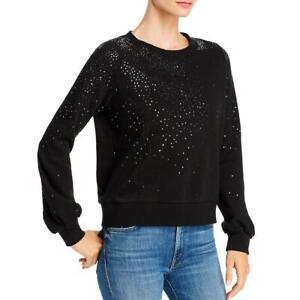 Generation Love Womens Susan Fleece Sequined Crew Neck Sweatshirt Top BHFO 1375