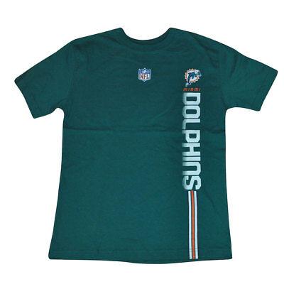 Einfach Nfl Miami Dolphins Seitenstreifen Strom Links Jugendliche T-shirt Flossen Dk4063 Weitere Ballsportarten