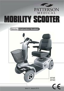 Details about Days Medical Drive strider ST4D ST4E mobility scooter Owner /  user manual