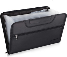 Expanding File Folder With Portable Handle Document Organizer Briefcase