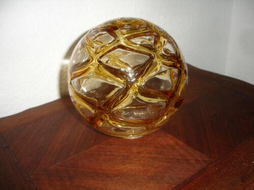 1 Ersatz Lampenglas Kugel für Doria  Deckenlampe 70er  Bernsteinfarben Murano